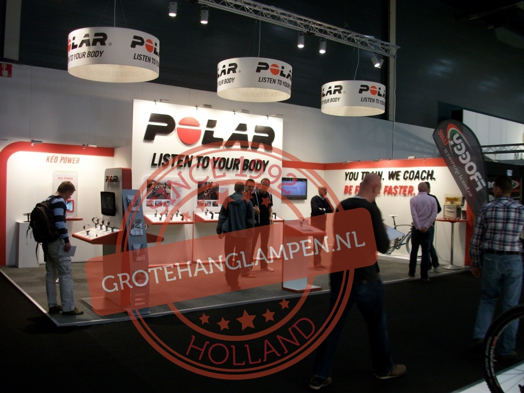 Hanglampen Polar, bedrukt met logo