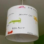Bedrukte hanglamp voor kinderkamer