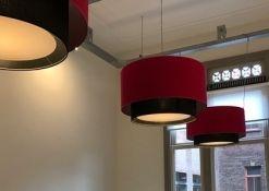 dubbele hanglamp binnen kap met blender