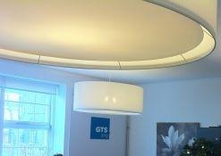 Wit linnen hanglampen