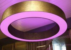 Donut lampenkap met RGB verlichting