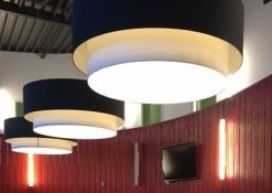 dubbele hanglamp stof