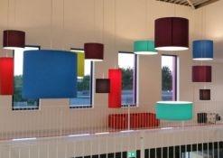 Gekleurde hanglampen