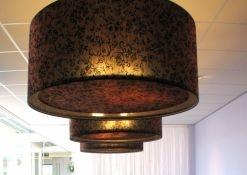 Lampenkappen in koperkleurige stof