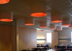 Lampenkappen binnenzijde gestoffeerd