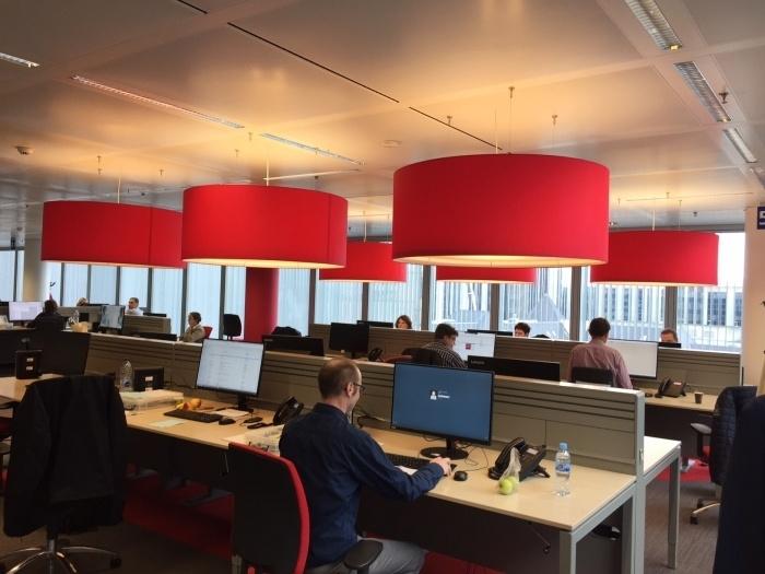 Lampenkappen rood met blenders
