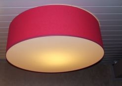 Roze lampenkap voor aan het plafond