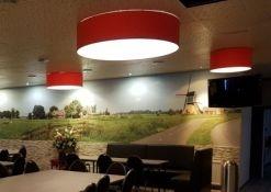 plafond hanglampen rood