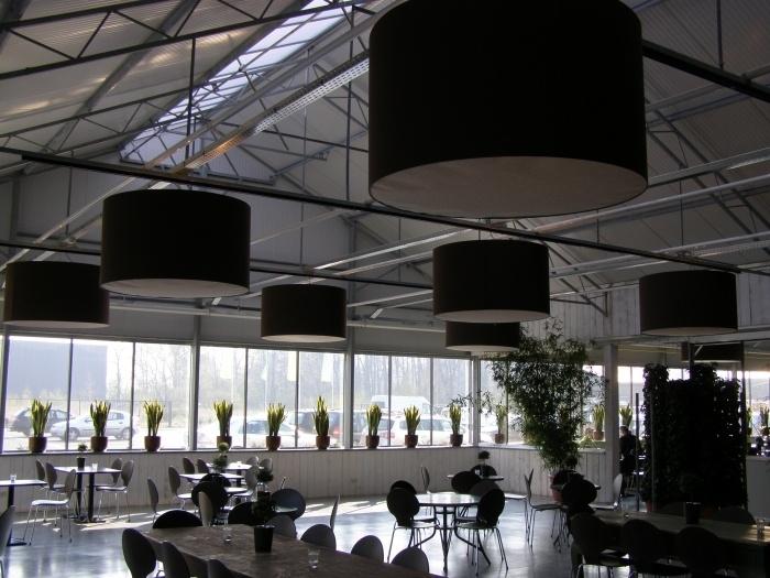 Bruine lampenkappen van linnenstof