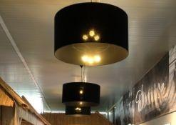 Zwart linnen lampenkappen