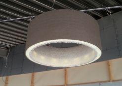 Akoestische hanglamp gemaakt van stof