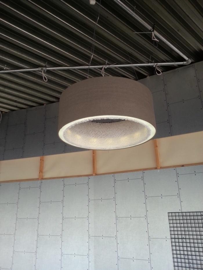 akoestische lampenkap wol bekleed binnenkant